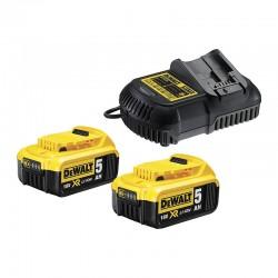 DEWALT Φορτιστής 18V XR με 2 X 5.0Ah Μπαταρίες DCB115P2-QW