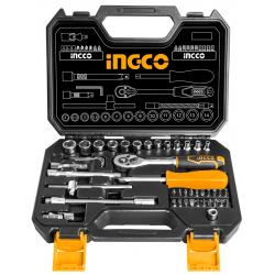INGCO Κασετίνα σετ 45 τμχ. καρυδάκια HKTS14451