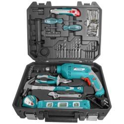 TOTAL THKTHP1012 Σετ Κρουστικό Δράπανο 650W με 101 εργαλεία