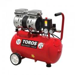 TOROS Αεροσυμπιεστής 24Lt/0.75HP Oilfree Χαμ. Θορύβου