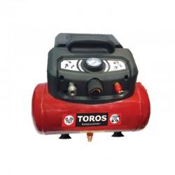 TOROS Αεροσυμπιεστής Μονομπλόκ Oilfree 1.5HP /6L 602036